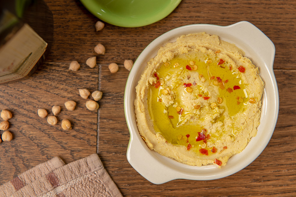 humus z pikantną nutą